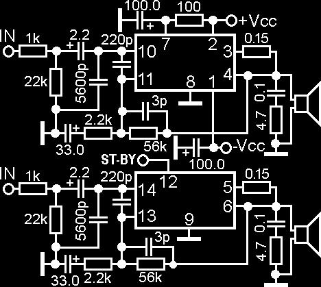 INTEGRATED CIRCUIT - POWER AUDIO AMPLIFIERS - PDF